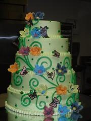 wedding ceremony supply(1.0), cake(1.0), flower(1.0), buttercream(1.0), green(1.0), sugar paste(1.0), food(1.0), cake decorating(1.0), icing(1.0), birthday cake(1.0), wedding cake(1.0),