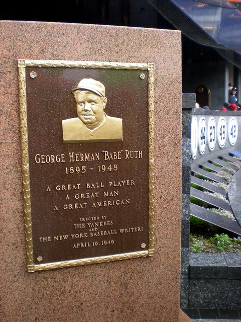 Babe Ruth Plaque  Flickr - Photo Sharing-1970