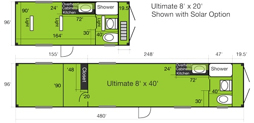 Container house floor plan 20 39 40 39 w kitchen flickr photo sharing - Storage containers small spaces plan ...