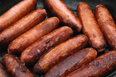 boerewors(0.0), sausage(1.0), frankfurter wã¼rstchen(1.0), italian sausage(1.0), vienna sausage(1.0), sujuk(1.0), boudin(1.0), mettwurst(1.0), longaniza(1.0), food(1.0), dish(1.0), breakfast sausage(1.0), kielbasa(1.0), bratwurst(1.0),