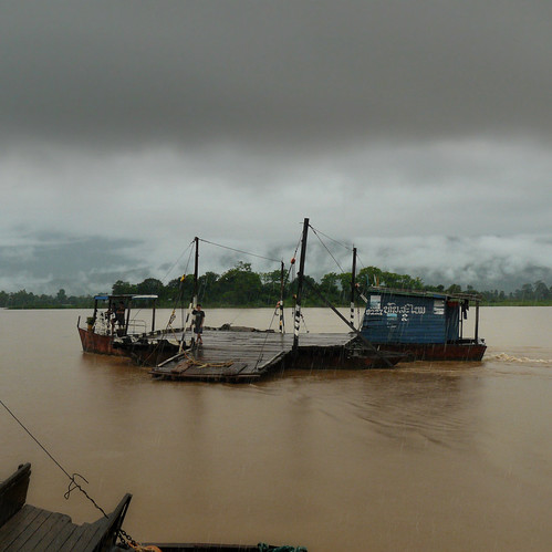 Ferry crossing the mighty Mekong river