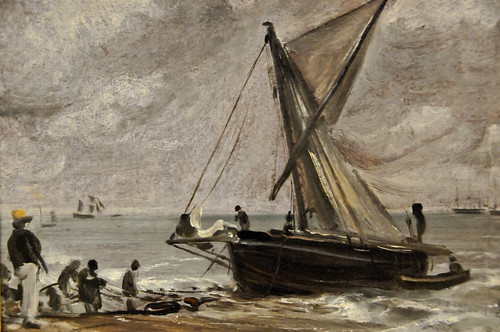 John Constable - Beaching a Boat, Brighton, 1824 at Tate Britain Art Museum London England