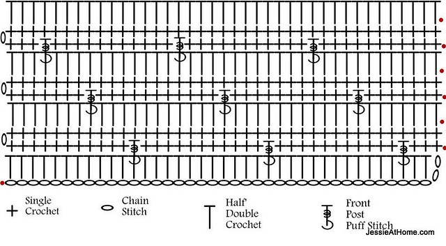 Joseph's-Puff-Stitch-Blanket-Chart