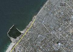 Google map of Gaza
