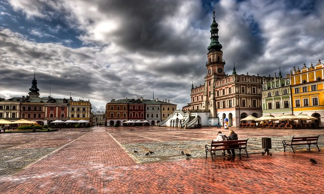 The Old City quarter of Zamość - HDR