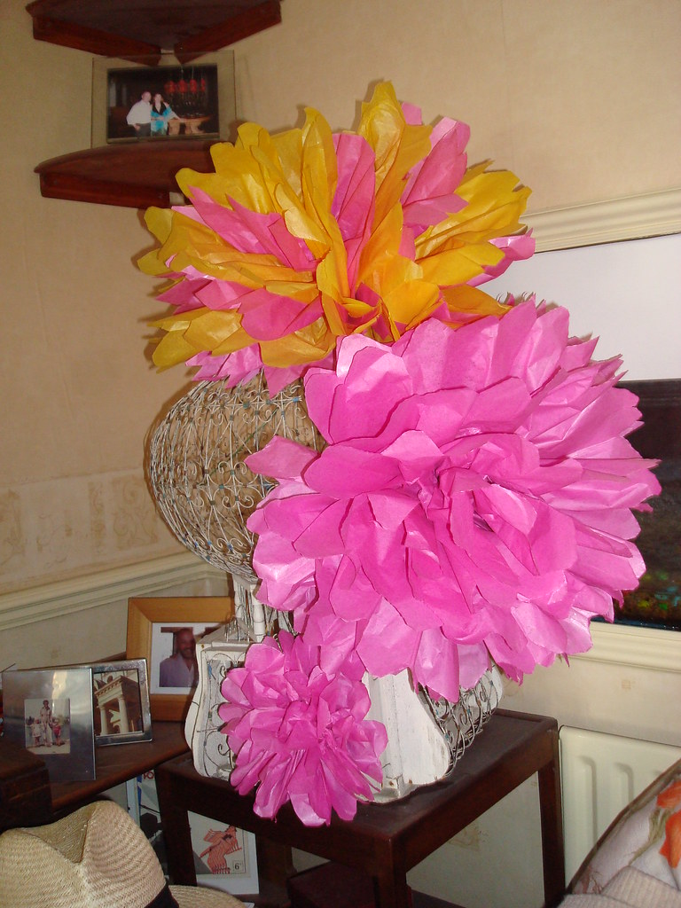 Trying Out Wedding Decoration Ideas Part 1 Tissue Paper Flowers And