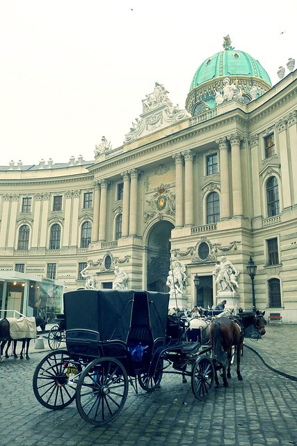 A Fiaker at Hofburg Palace