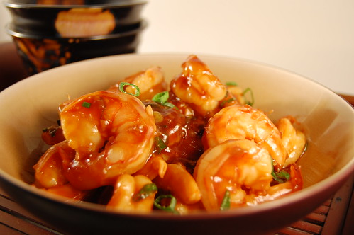 Prawns in ginger garlicky tomato sauce