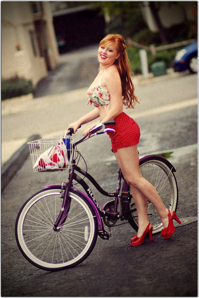 A Girl and her Bike (Circa 1954)