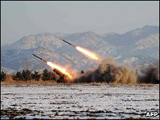 Missile launch in the Democratic People's Republic of Korea (DPRK) on April 5, 2009. The People's Republic of China urged calm while the US administration sought to promote alarm and condemnation. The DPRK conducted an underground nuclear test on May 25. by Pan-African News Wire File Photos