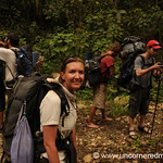 Audrey with Trekking Group to Lake Atitlan, Guatemala