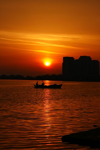 Boat on the sunset  #Explore