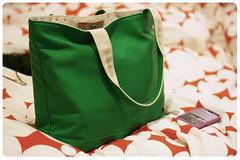 bag, pattern, handbag, tote bag, green,