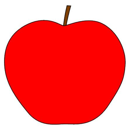 red apple with stem clipart sketch, op lge 11 cm | Flickr ...