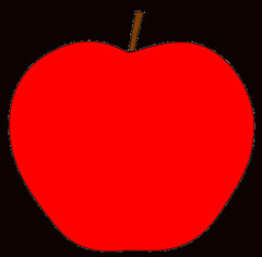 red apple with stem clipart sketch, op lge 11 cm | Flickr ...