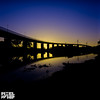west gate bridge infrared sunset-