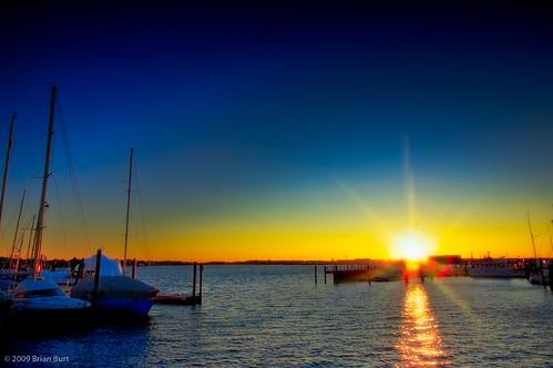 blue sunset sky sun water d50 landscape boats bay harbor pier dock nikon horizon bluesky nikond50 rhodeisland newport sailboats flickrgolfclub northofnormal briburt