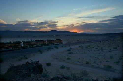 california railroad train sunrise route66 ludlow mojave bnsf mojavedesert californiadesert manifest sanbernardinocounty transcon bristolmountains needlessub