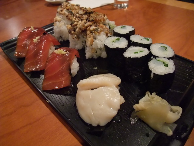 ... Tuna, Seared Scallop, Hachi roll and Ika Shiso roll | Flickr - Photo