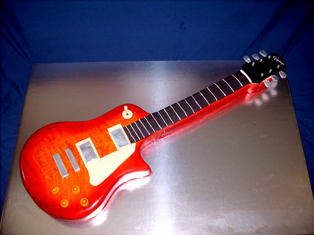 Epiphone Les Paul Guitar Cake Flickr Photo Sharing