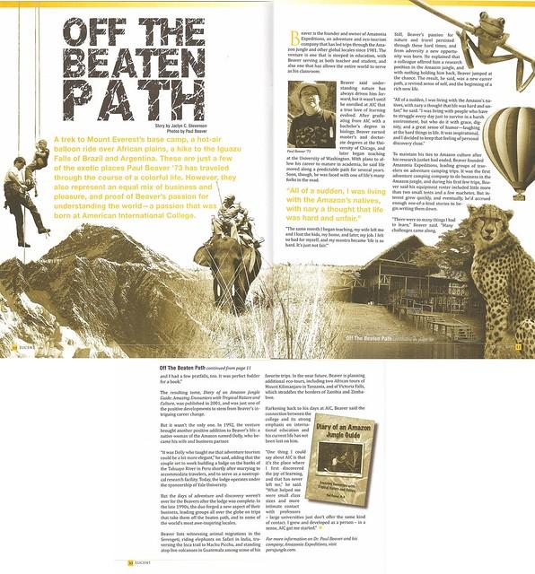 Lucent magazine Spring 2009 - Off the Beaten Path