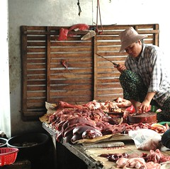 charcuterie, meat, food, butcher, person,