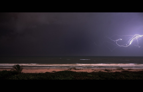 ocean sea storm beach rain night clouds canon rebel sand waves thunderstorm lightning thunder xsi ftpierce