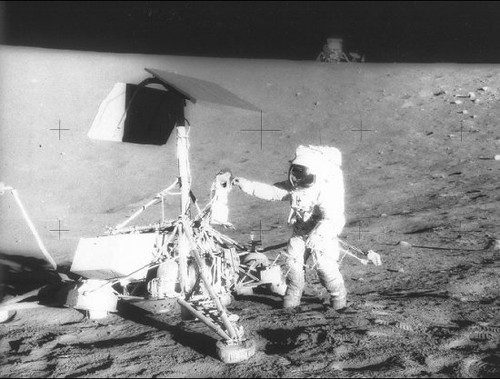 Apollo 12 Landing on The Moon