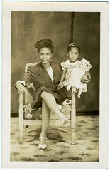"Real Photo Postcard: ""Little Florence and Baby Rose"""