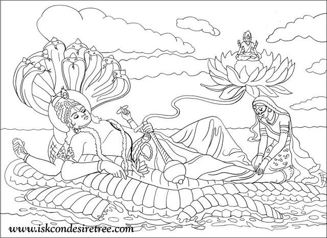 lord vishnu coloring pages - photo#8
