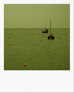 Fowey Harbour entrance (phoney polaroid)