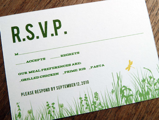 Printable Wedding RSVP Garden Party You can find this complete printable