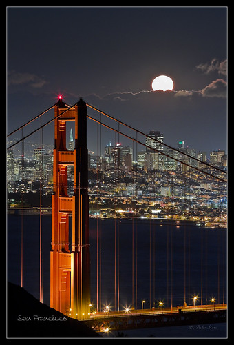 Fullmoon - Golden Gate Bridge - San Francisco - CA *Explore*