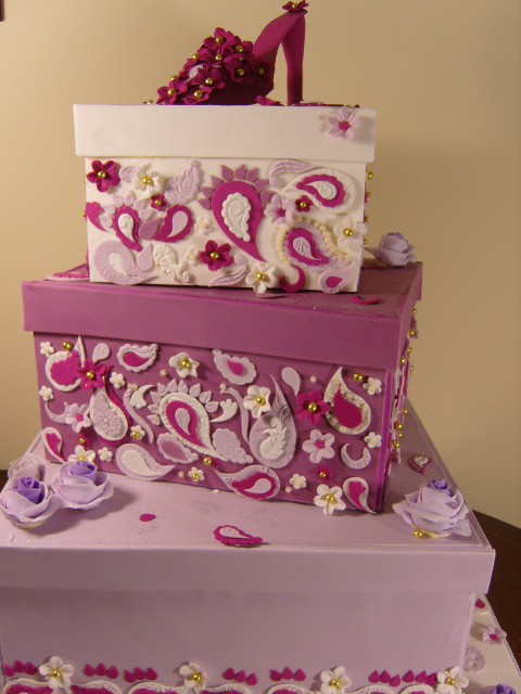 The winning cake in the shoes category of Wedding TV 39s The Great Cake Bake
