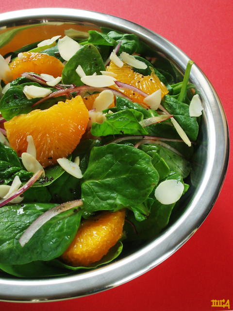 spinach, orange, and toasted almond salad | Explore olgucz's ...