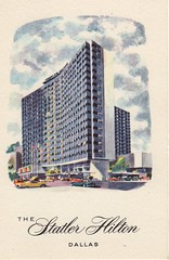 Statler-Hilton, Dallas- post card