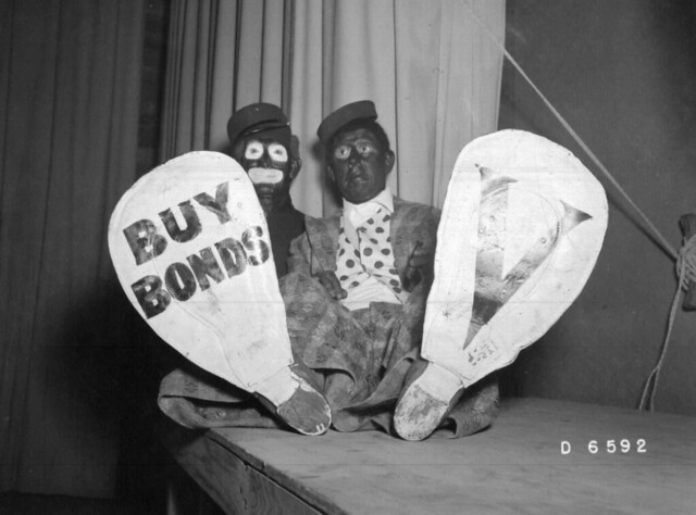 """Hanford Black Face """"Buy Bonds"""", WWII Years"""