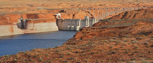 Dam on Lake Powell, Near Page Arizona