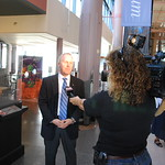 Astronaut Tom Jones was interviewed by Houston's Fox 26 shortly after the meteorite was unveiled and discusses what it was like to travel in space four times.