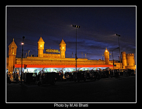blue pakistan sunset sky india building station by sunrise dawn high artistic dusk antique details railway landmark fantasy era after british dreamy hd hq mali res lahore hdr raj bhatti rainphoto