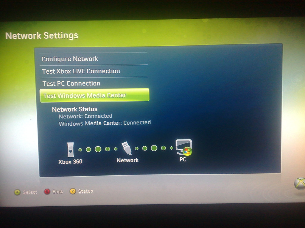 4 - Testing Xbox MCE Extender Network Connection to Window… | Flickr