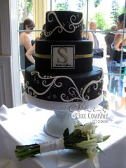 Black Fondant Wedding Cake