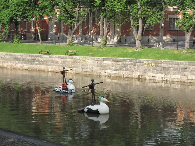 Río Aura en Turku