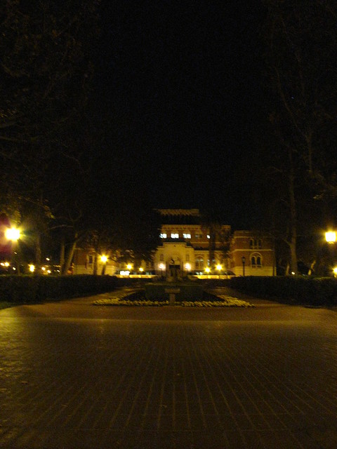 Usc Campus At Night photo