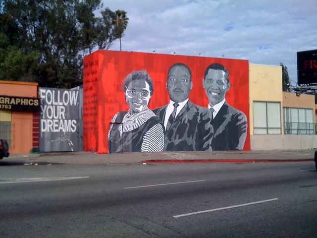 Mr brainwash rosa mlk obama flickr photo sharing for Mural mr brainwash