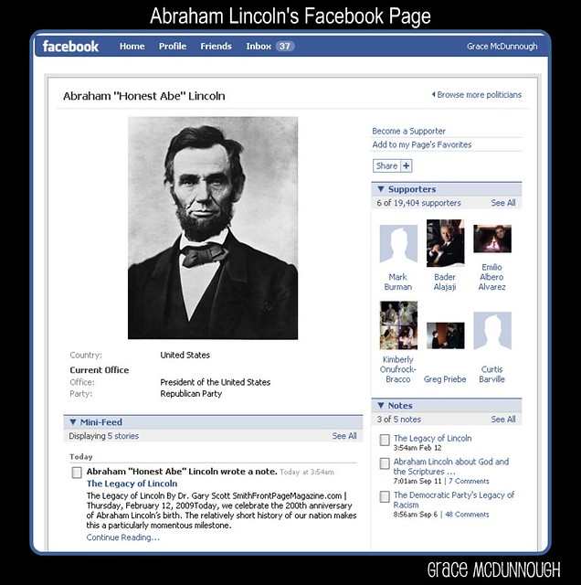 Has Facebook Jumped The Shark Abraham Lincoln S Facebook