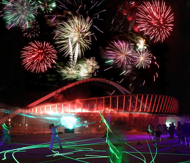 Backyard Firework Show: Moses Mabhida Stadium - Fireworks Display