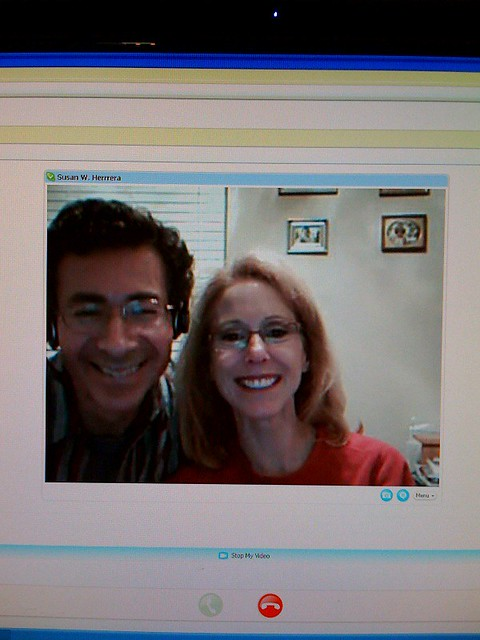 Skype-ing with the parents