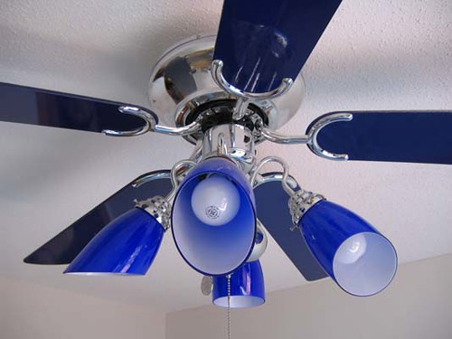 cobalt blue ceiling fan/light | Flickr - Photo Sharing!