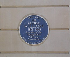 Photo of George Williams blue plaque